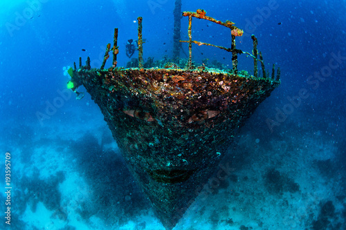 Flying Dutchman style ghost ship pirates of carribean sunk underwater