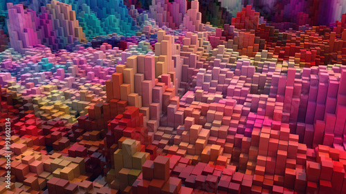 3D rendering. Abstract colorful background © Miguel Aguirre