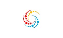 G Letter Logo Creative Design. Vortex Concept Template.