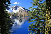 View On Island In Crater Lake,...