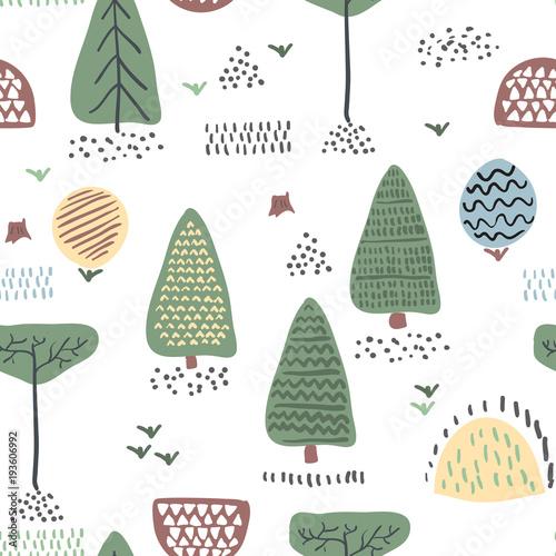 Las bez szwu. Ilustracji wektorowych.