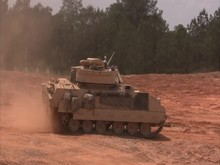 Military, M2 Bradley On Patrol