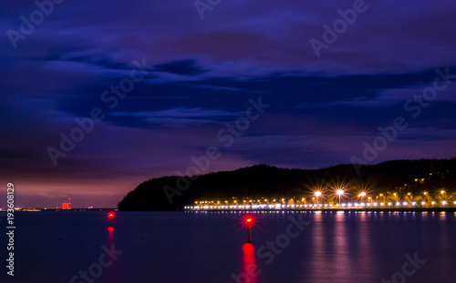 Gdynia - beach at night