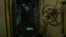 Inside View Of An Old Submarine