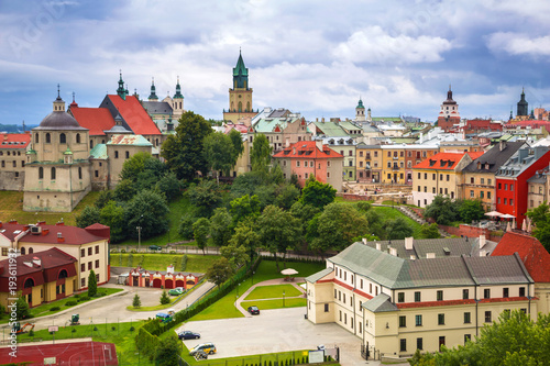 Canvas Prints Eastern Europe Architecture of the old town in Lublin, Poland