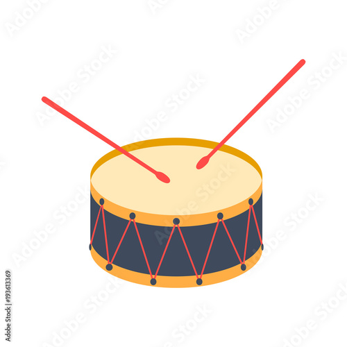 Leinwand Poster drum. icon, vector illustration.