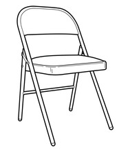Folding Chair Line Drawing