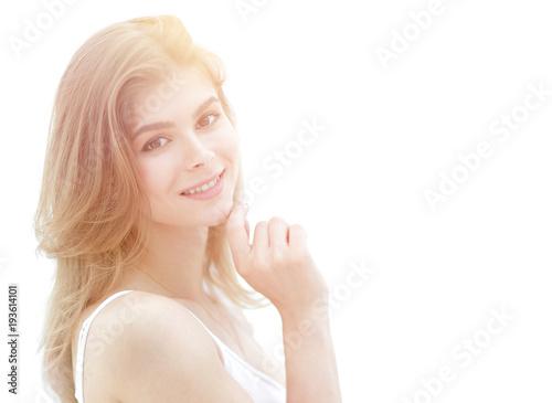 Fototapeten womenART closeup portrait of a cute young woman