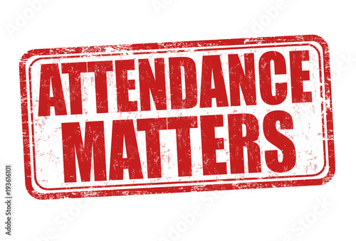 Photo Attendance matters grunge rubber stamp