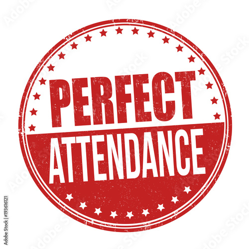 Perfect attendance grunge rubber stamp Canvas Print