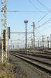 railways and electric pylons at the railway station