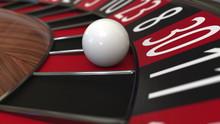 Casino Roulette Wheel Ball Hit...