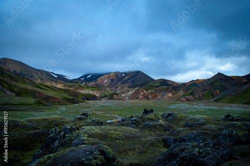 Tuinposter Purper Iceland trekking