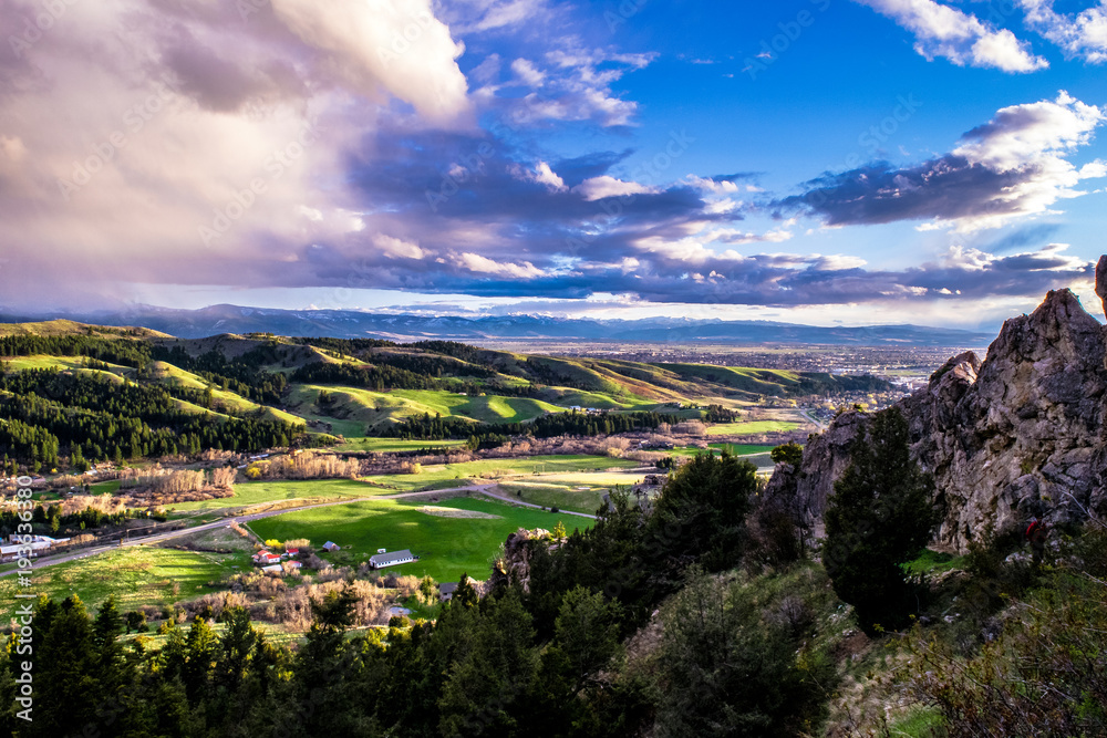 Fototapety, obrazy: Sunset in Bozeman, Montana