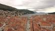 Dubrovnik aerial old city to gate 4K