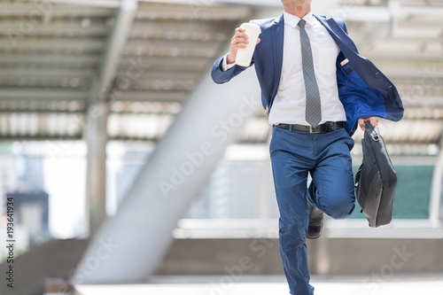 Fototapeta Young businessman is going to make timely appointments. obraz