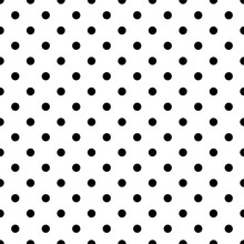 Seamless Black Polka Dot Pattern On White. Vector Illustration.
