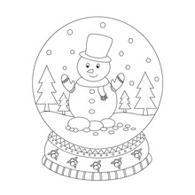 Coloring Book Page Of Christma...
