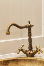Classic Brass Faucet And Basin...