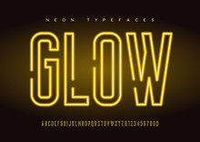 Glowing Vector Linear Neon Typ...