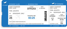 Boarding Pass Design Backgroun...