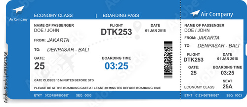 Photo Boarding pass design background