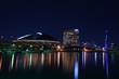 福岡市百道浜の夜景 福岡タワーとドーム