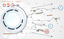 Abstract Technology Circle Cir...