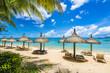 Mont choisy, public beach at Mauritius islands, Africa
