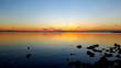 Der Himmel und der See in der Dämmerung zum Sonnenuntergang