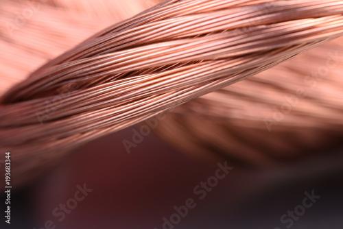 Türaufkleber Makrofotografie Copper wire macro detail