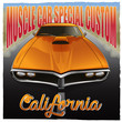 """""""Muscle car special custom California"""" poster. Vector illustration of muscle car in cartoon style. Good for posters, stickers, t-shirts."""
