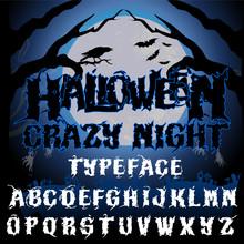 Halloween Crazy Night Typeface...
