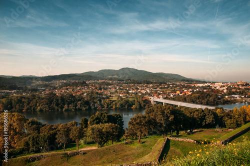 Fotografie, Obraz  Landscape of International Bridge of Tui and Valença