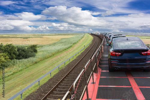 Obraz Autozug Sylt-Niebüll  - fototapety do salonu