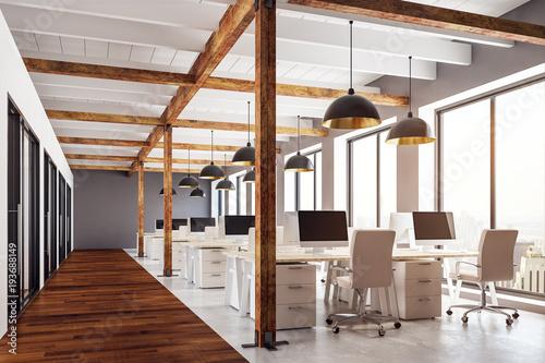 Foto op Plexiglas Trappen Modern coworking office