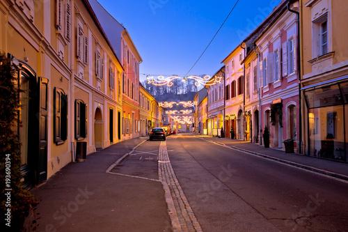 Foto op Plexiglas Caraïben Bad Radkersburg street evening advent view