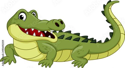Fototapeta premium Krokodyl kreskówka na białym tle