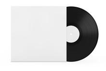 Old Vinyl Record Disk In Blank...