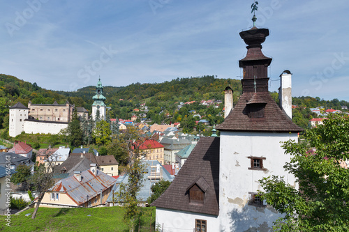 Foto op Plexiglas Artistiek mon. Banska Stiavnica townscape in Slovakia.
