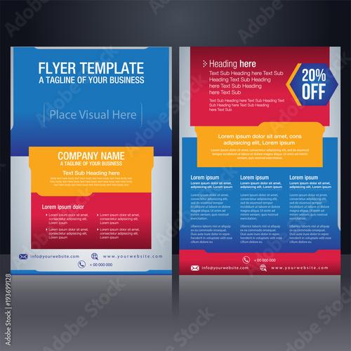 flyer pamphlet brochure poster cover design layout background vector