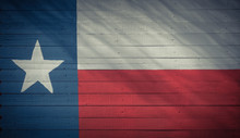 Texas Flag Pattern On Wooden B...