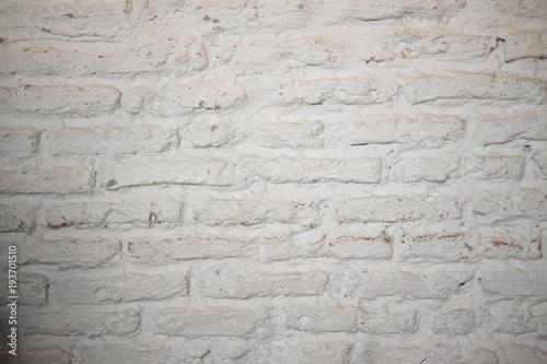 Poster Baksteen muur White brick wall