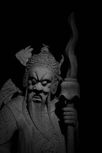 God Of Warrior Statue In Thail...