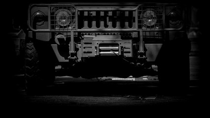 Modern armored military truck - monochrome