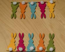Ten Colorful Wooden Easter Bun...