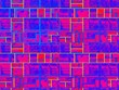canvas print picture - Atomic Technology Geometric Bricks