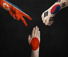 Hands Decorated In Flags Of No...