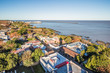 Leinwanddruck Bild - Colonia Del Sacramento - July 02, 2017: Panoramic view of Colonia Del Sacramento, Uruguay