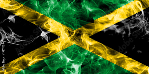 Foto  Jamaica smoke flag